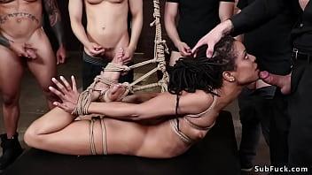 Therapist and hunks gangbang ebony bdsm 5 min