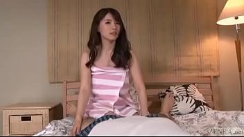 Subtitled Japanese AV Star Rui Saotome POV gokkun blowjob thumbnail