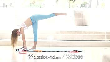 PASSION-HD Tiny Yoga Student Fucks Big Dick Instructor 10 min