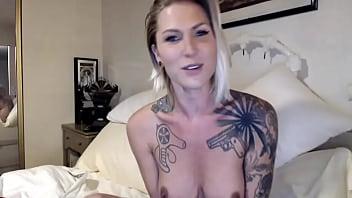TRANSSLAVE.COM - Tattooed gorgeous ladyboy 54 min
