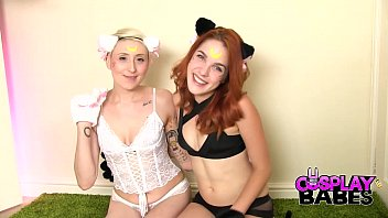 COSPLAY BABES Sailor Moon kittens playing dirty