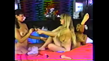 Naughty hottie K.C. Dylan and her friends like to giggle when they vellicate each other feet with ther fingers and  tickler and play with chocolate syrup as lesbian foreplay