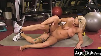 John Price is a personal trainer who is   happy to fuck his mature client Szandi