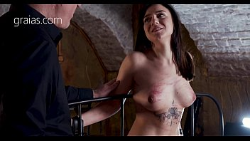 Cute slave girl punished with electro