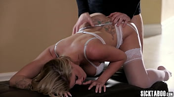 Husband fucking his horny blonde wife with amazing big boobs Jessa Rhodes