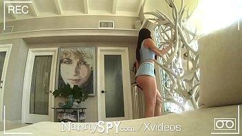 NANNYSPY Masturbating NANNY Caught on webcam