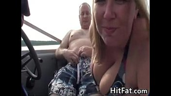 BBW Gives A Blowjob Outside On A Boat