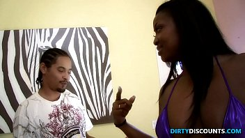 Doggystyled Bigbooty Ebony Gets Ass Jizzed