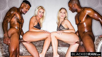 BLACKEDRAW Two Blondes Fuck Two Dominant BBCs After A Night At The Club 13分钟