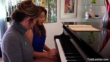 Hairy pussy eaten by her piano teacher