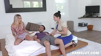 Stepmom Sheena Ryder Allows Her Stepson to Fuck His Sis Paisley Bennett