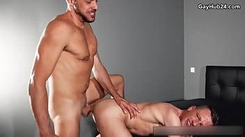 Hot gay porn. Bitch gets barebacked 20 min