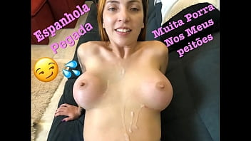 Streaming Video I started with a deep throat stuck to a stalk and then a very hot Spanish girl, I got a lot of cum on my big tits. - XLXX.video