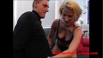Blonde German MILF Gets Fucked During Casting For Roleplay - GermanPornCasting.com