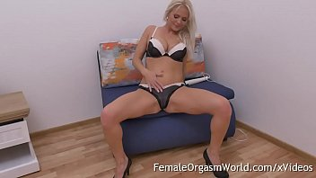 Horny MILF Kathy Anderson Striptease and Wand Masturbation to Real Orgasm