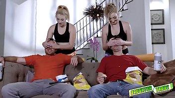 Blonde Teens Swap Dads And Deepthroat Blowjobs Them!