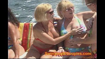 8 HORNY BI Milf WIVES on a BOAT