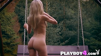 Petite big ass blonde teen Zhenya Belaya hot posed naked after striptease