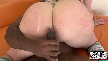 EVASIVE ANGLES He pulls out, makes her suck her pussy juices off of his huge shaft and make it even harder. He slams it back inside of her cunt until she screams.