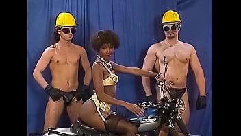 Ebony Babe Gang Banged at Bizarre Retro-style Party