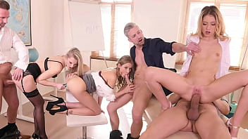 Extra Help After School When Professors Have Orgy With Comely Coeds