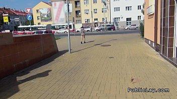 Czech amateur fucking pov in public for cash