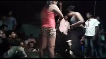 Desi Andhra hot nude aunties dance at bhogam melam