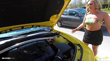 Roadside - Luxury MILF Gets Her Pussy Banged On A Sports Car 10 min