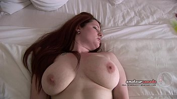 Large natural girls breasts - Canadian porn amateur fingers pussy with big natural tits