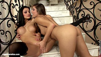 Peach dvd nude models - Beautiful vixens peaches and aletta go down on each other on the stairs