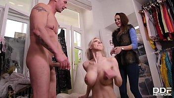 Intense cock sucking and ball licking by blonde Czech goddess Nataly Cherie