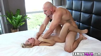 Pretty blonde Goldie Rush riding huge meaty dick