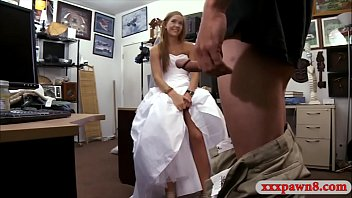 Babe in wedding dress nailed by pawn man