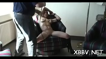 Bondage breast - Amateur gets twat ravished during breast bondage xxx