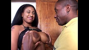 Black Babe Spreads Thighs