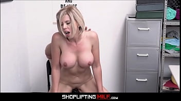 Big Tits Blonde MILF Shoplifter Amber Chase Sex With Officer After Deal Is Made 8 min