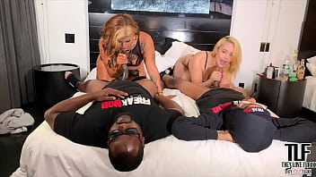 LATINA SLUTS PHEONIX STARR AND JEYLA SPICE GET DICKED DOWN BY BBC