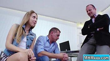 Anya Akulova gets a double penetration thumbnail
