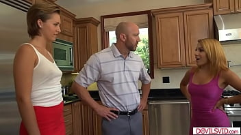 A guy fucks mistress while wife watching