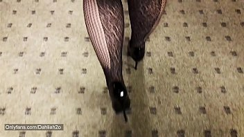 Tall BBW Amazon In Fishnet and Heels.... Must watch!!!