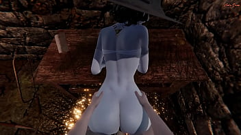 POV fucking the hot vampire milf Lady Dimitrescu in a sex dungeon. Resident Evil Village 3D Hentai.