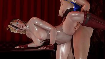 Futa - Street Fighter - Cammy gets creampied by Chun Li - 3D Porn 17分钟