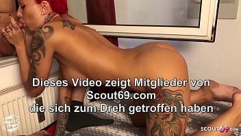 The Neigbours can hear Us - German Teen Couple Window Sex 7 min