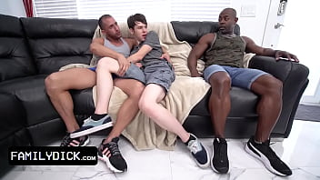 Cute Twink Wants To Watch The Game But His Step Uncle Has Plans For Him And His Big Black Friend
