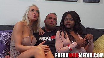 Noemie Bilas, Vannessa Skye, and the First White guy on FreakMobMedia.com صورة