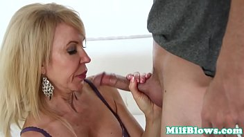 Erica ellyson sucking dick - Busty mature in lingerie sucking veiny cock