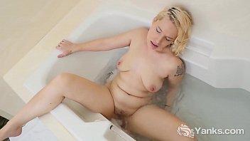 Softcore blonde bathtub masturbation Yanks bridgette uses the tub jets to have multiple orgasms