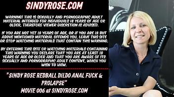 Sindyrose redball dildo anal fuck