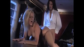 Hot blonde babe with nice tits in living room gets fucked by vampire prince