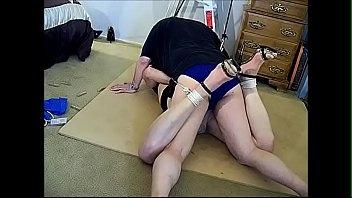 Tranny bondage games - Strangle hogtie